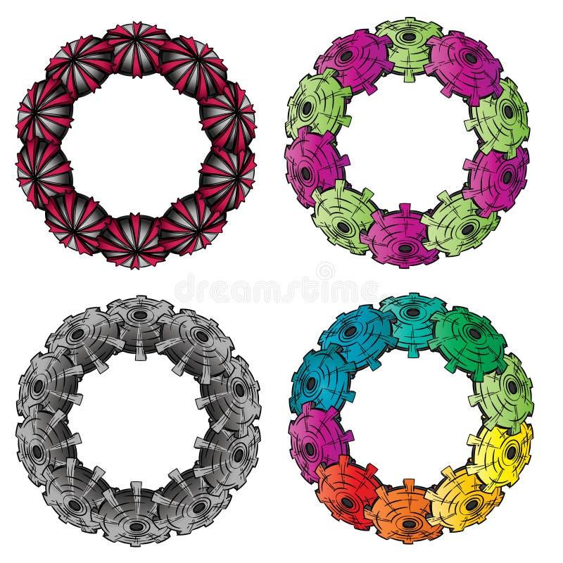 抽象五颜六色的结构圆环 皇族释放例证
