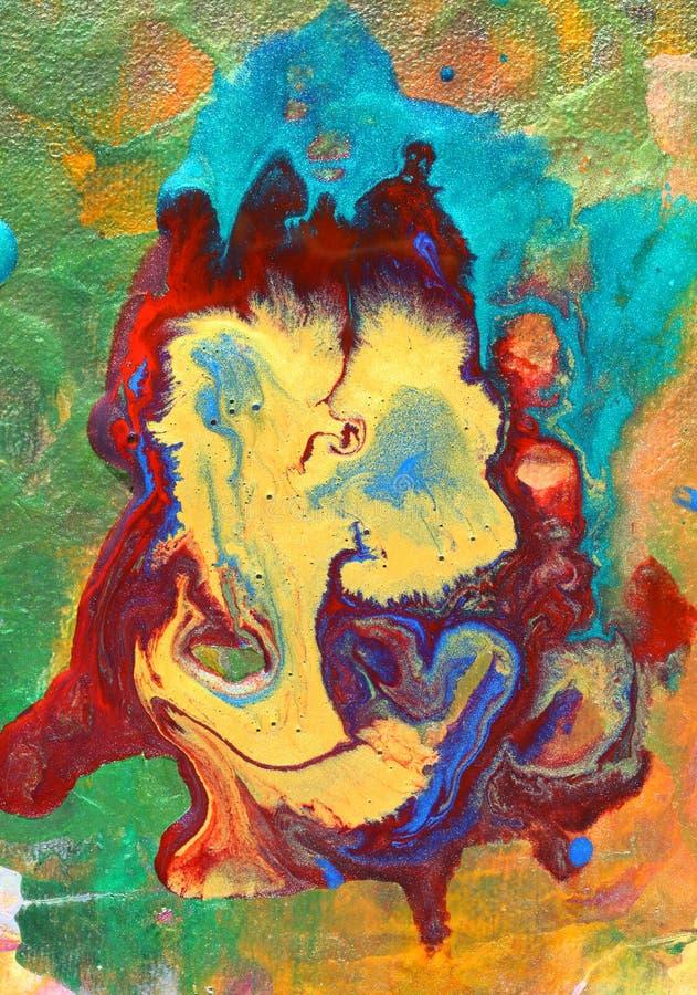 抽象五颜六色的绘画 向量例证