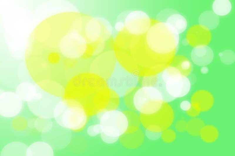 抽象五颜六色的bokeh背景 免版税库存图片