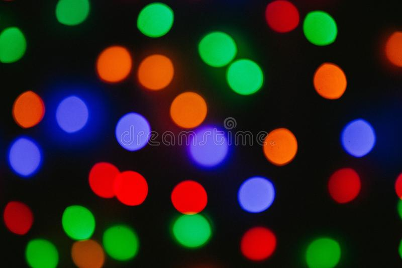 抽象五颜六色的defocused圆光斑,抽象背景 库存图片