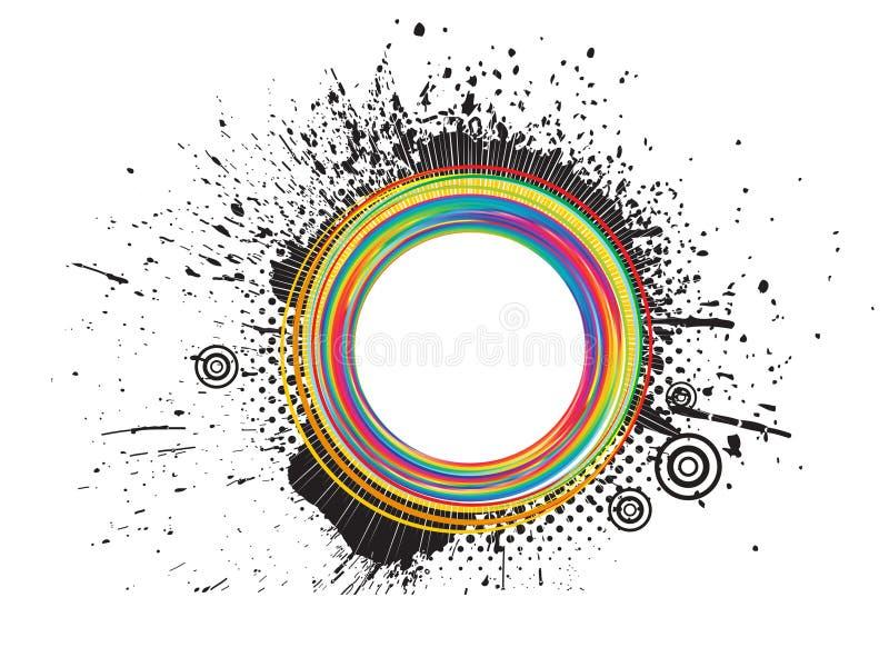 抽象五颜六色的grunge飞溅 库存例证