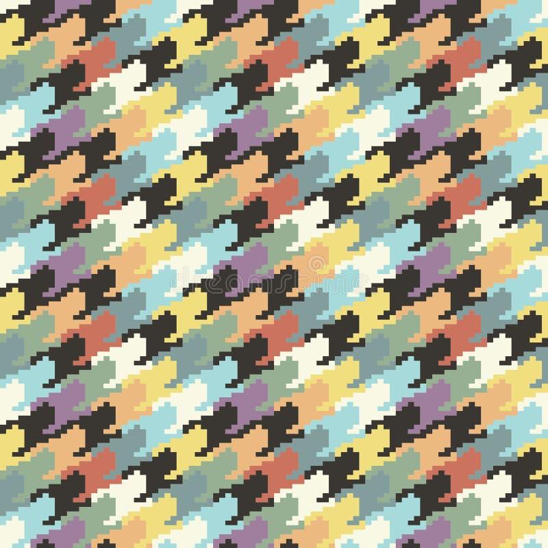 抽象五颜六色的houndtooth样式背景 库存例证
