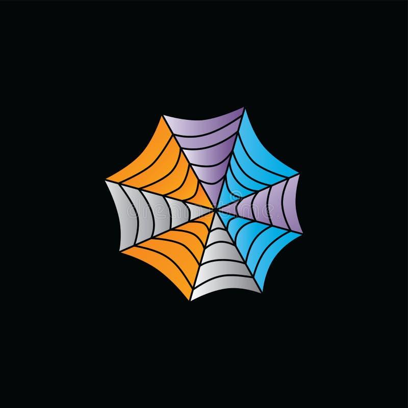 抽象五颜六色的spiderweb商标略写法模板 皇族释放例证