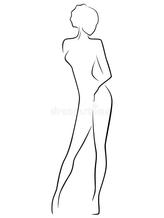 抽象亭亭玉立的女性身体 皇族释放例证