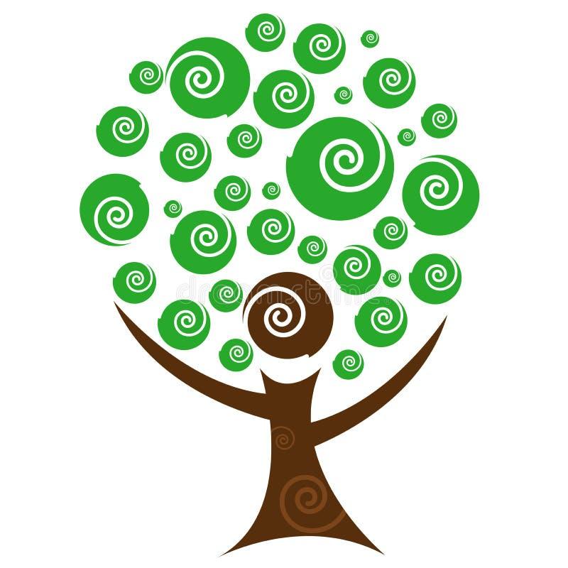 抽象人员结构树 库存例证