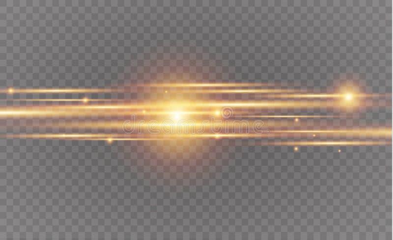 抽象从弯曲的线霓虹迷离的传染媒介发光的不可思议的星光线影响  从的闪烁的星团足迹 向量例证