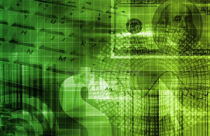 抽象企业全球技术 皇族释放例证