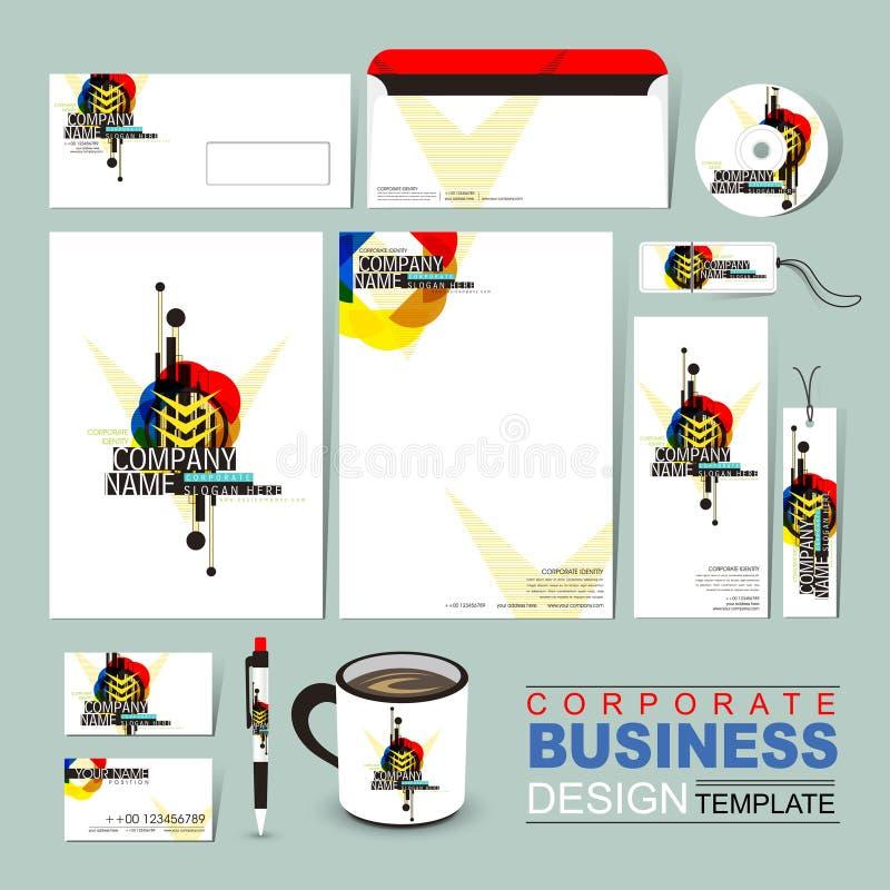 抽象企业公司本体模板组成由geomet 皇族释放例证
