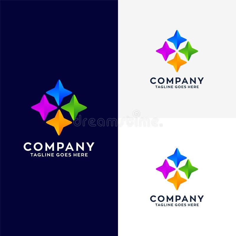 抽象企业商标设计 皇族释放例证