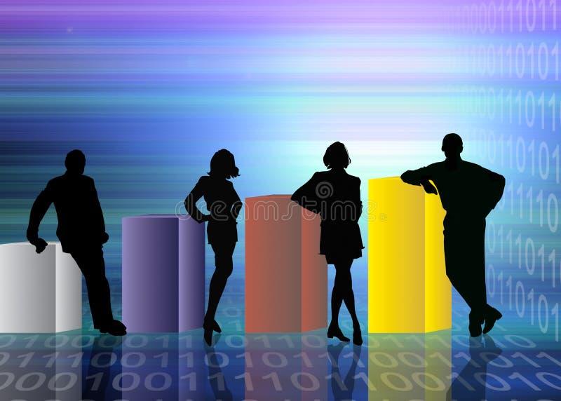 抽象企业场面 向量例证