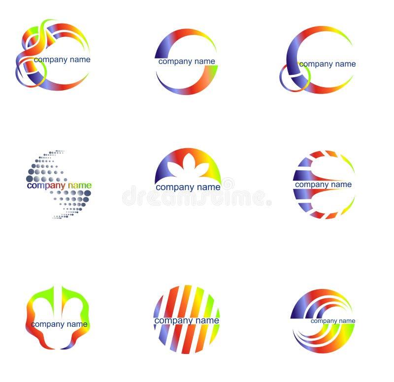 抽象企业概念徽标集合向量 向量例证