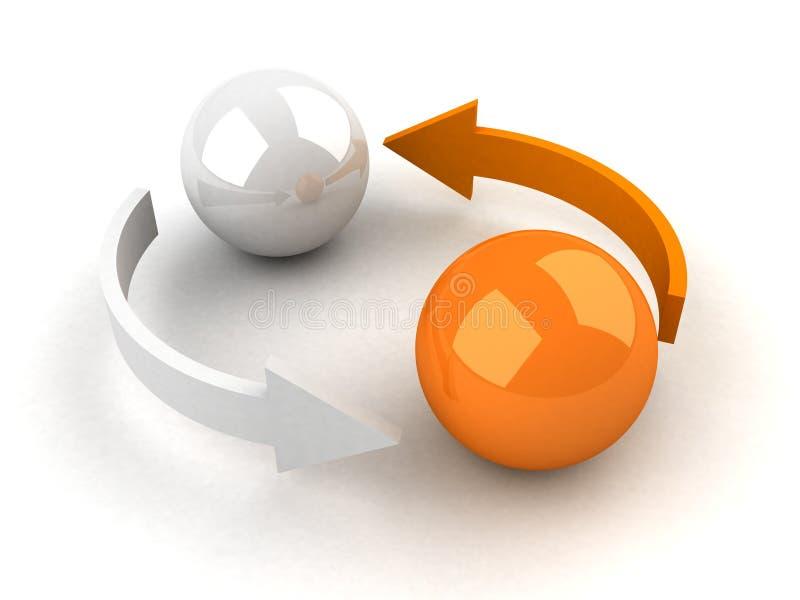 抽象企业概念替换 库存例证