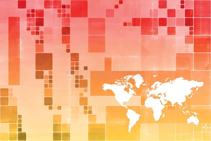 抽象企业橙色模板宽世界 库存例证