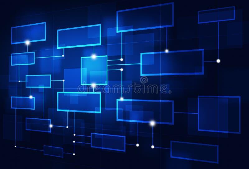 抽象企业流程图 皇族释放例证