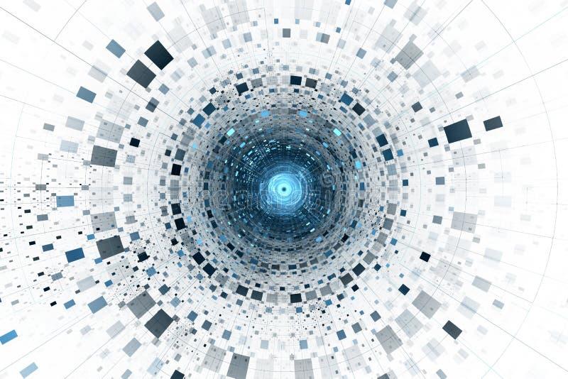 抽象企业科学或技术背景 皇族释放例证