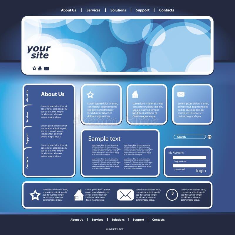 抽象企业网站设计模板向量 向量例证