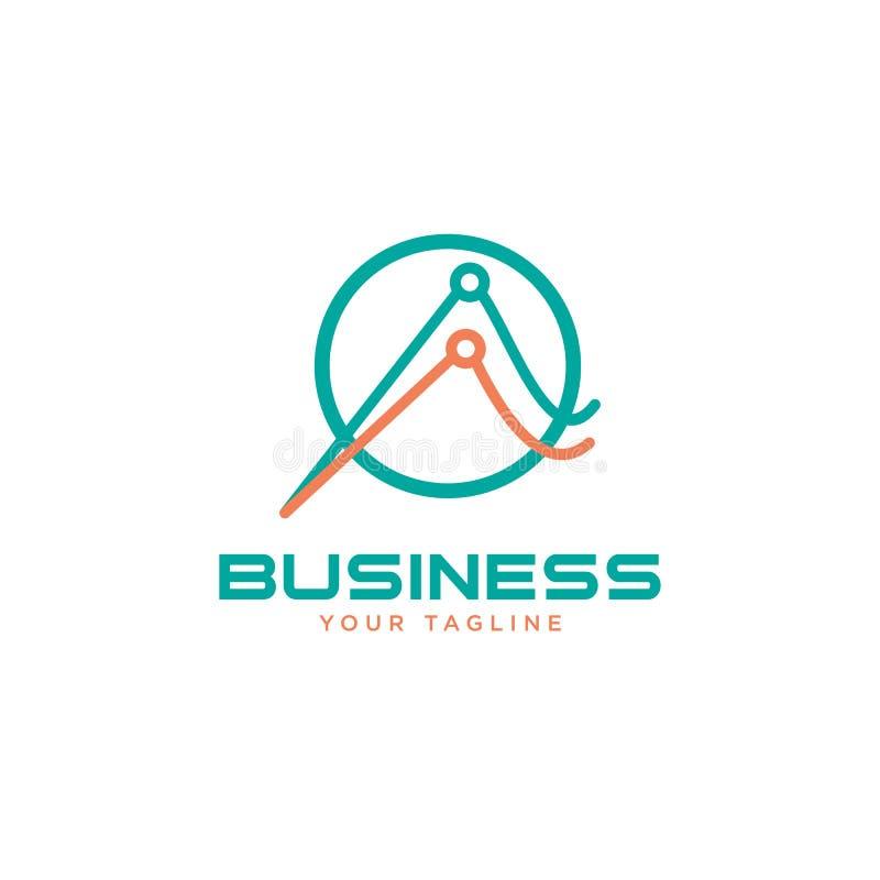 抽象企业财务商标传染媒介例证 向量例证