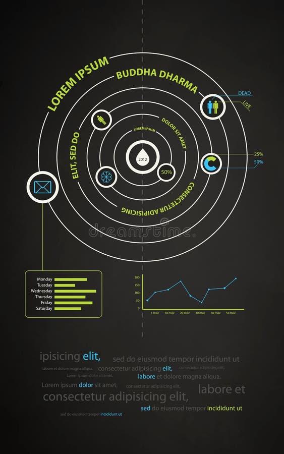 抽象企业infographics介绍 皇族释放例证
