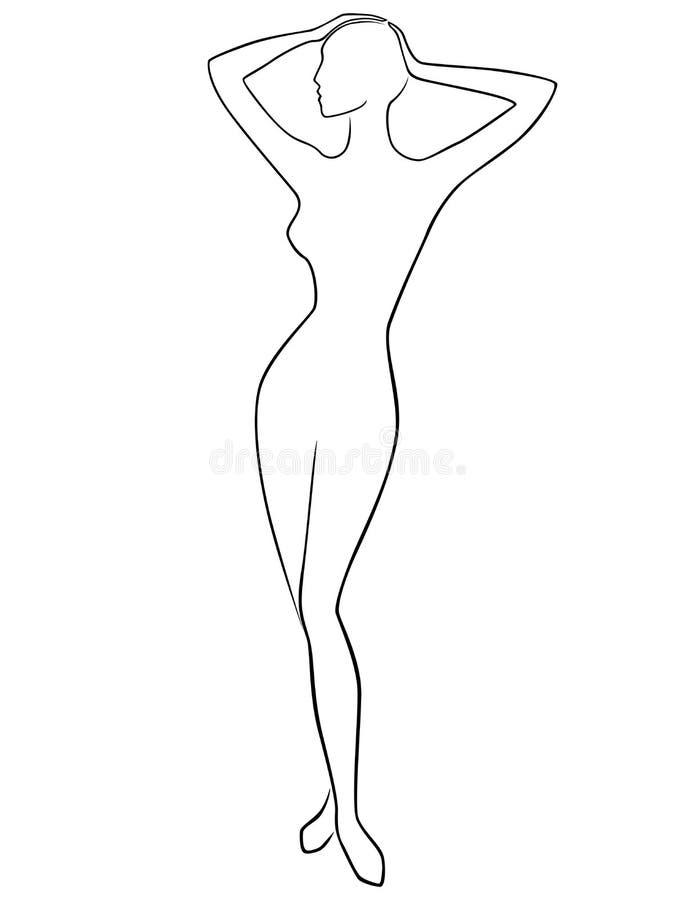 抽象优美的女性 皇族释放例证