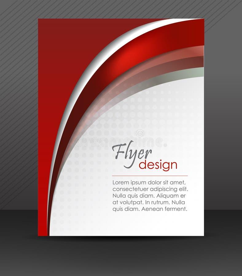 抽象传单或盖子设计 向量例证