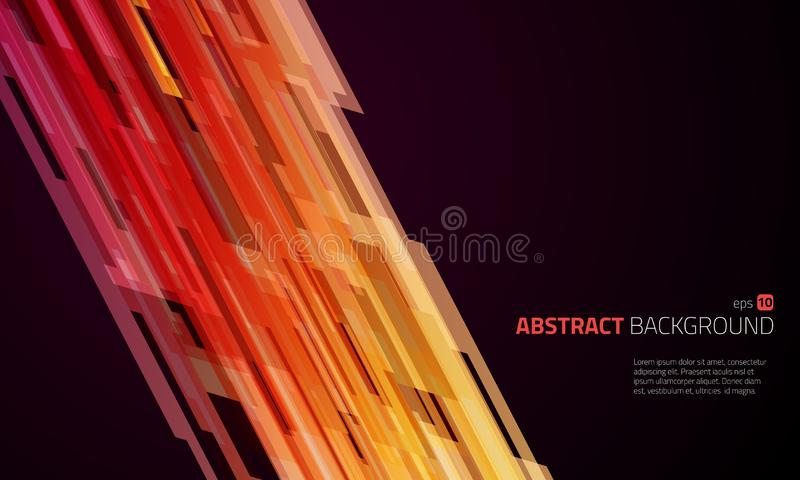 抽象传染媒介企业橙色背景 皇族释放例证