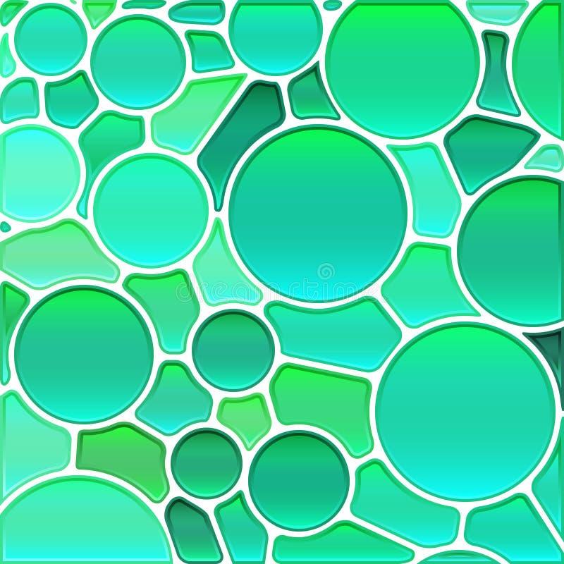 抽象传染媒介冰屑玻璃马赛克背景 向量例证