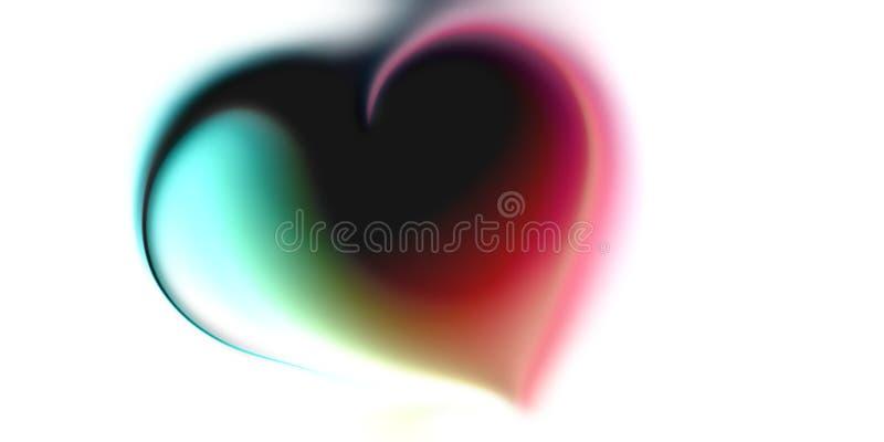 抽象传染媒介心脏迷离背景墙纸 向量例证