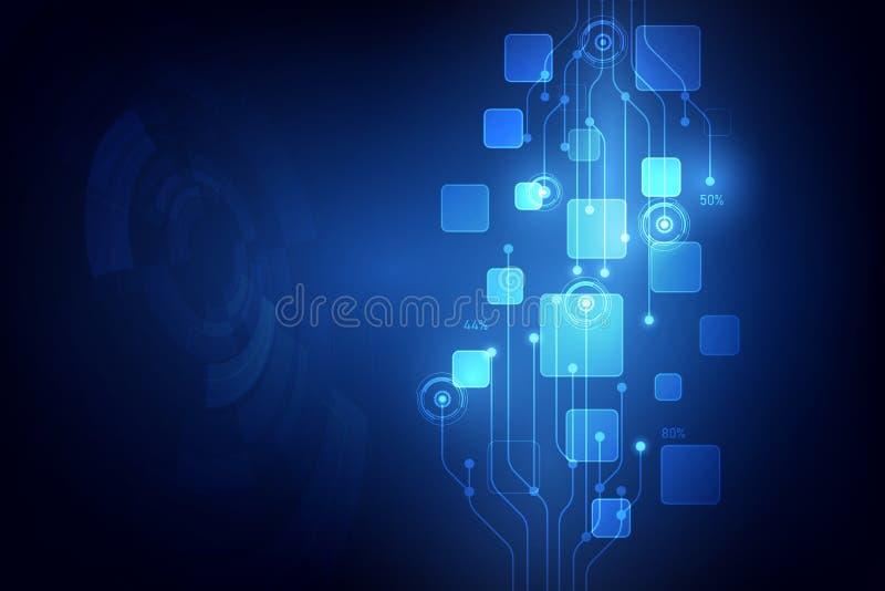 抽象传染媒介数字技术背景例证 皇族释放例证