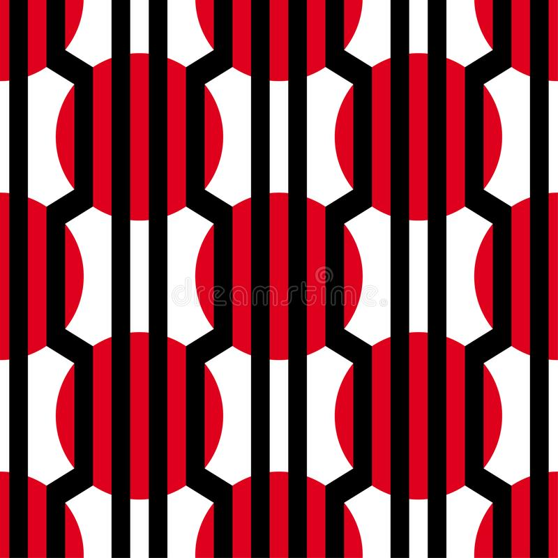 抽象传染媒介无缝的欧普艺术样式 五颜六色的图表装饰品 皇族释放例证