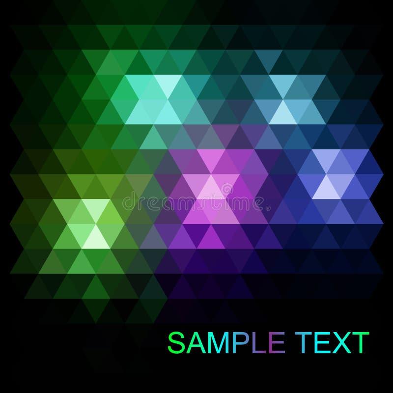 抽象传染媒介时髦黑暗的紫色三角样式 现代多角形背景 向量例证