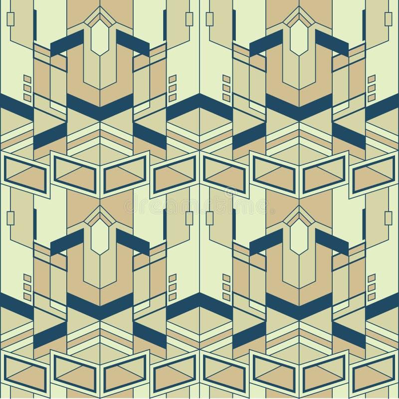 抽象传染媒介现代瓦片pattern06 库存例证