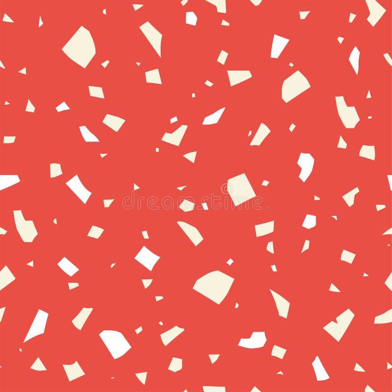 抽象传染媒介纹理 经典意大利磨石子地,无缝的样式 库存例证