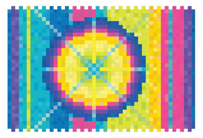 抽象传染媒介颜色背景光谱立方体箱子 皇族释放例证