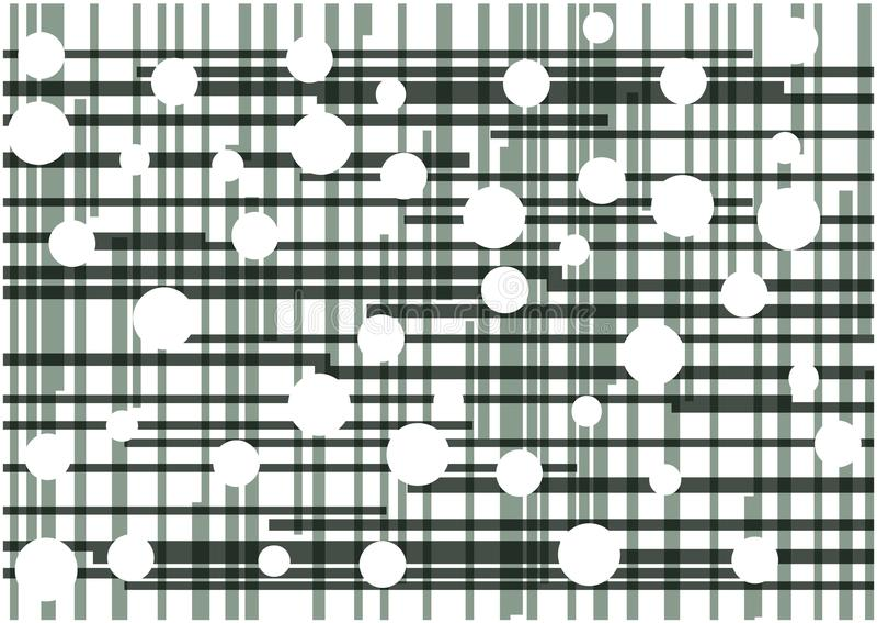 抽象传染媒介黑色线和白色圈子背景 库存例证