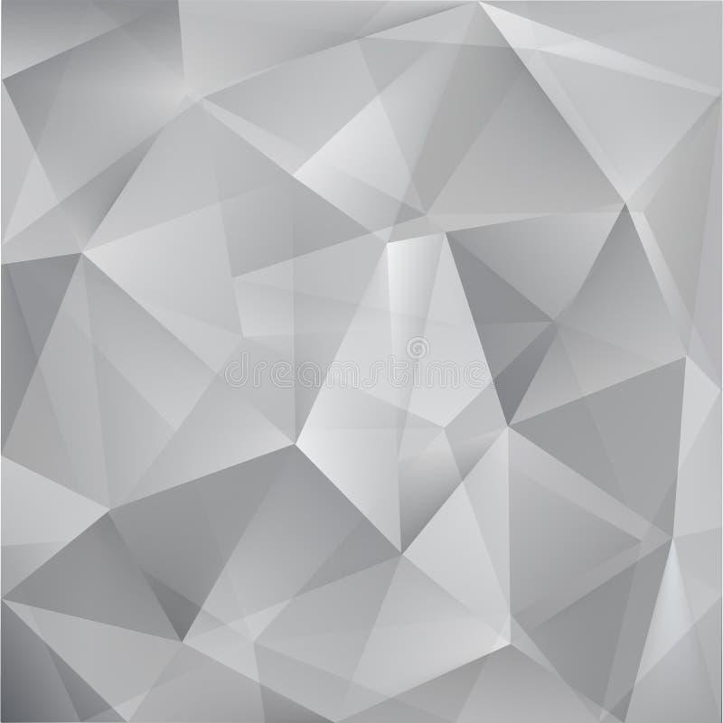 抽象传染媒介三角灰色背景 皇族释放例证