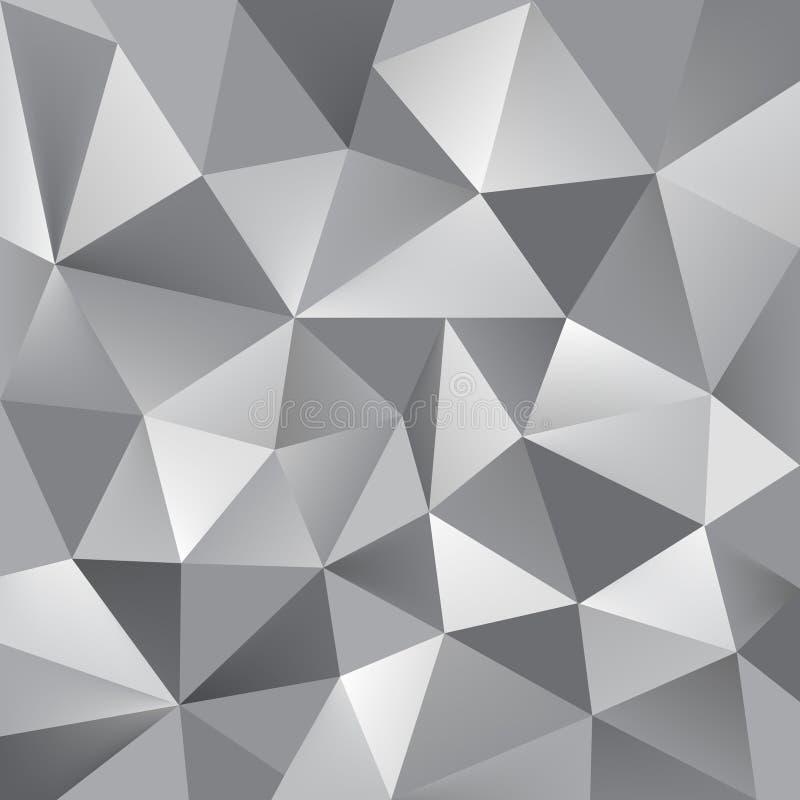 抽象传染媒介三角灰色背景 库存例证