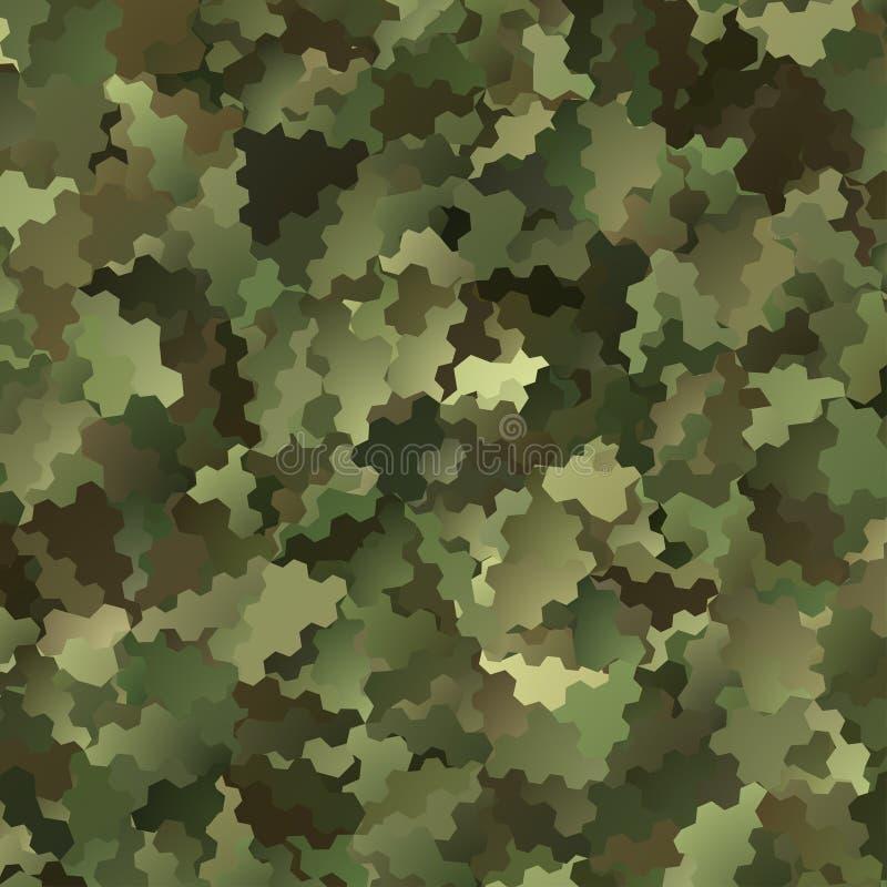 抽象传染媒介军事伪装背景 向量例证