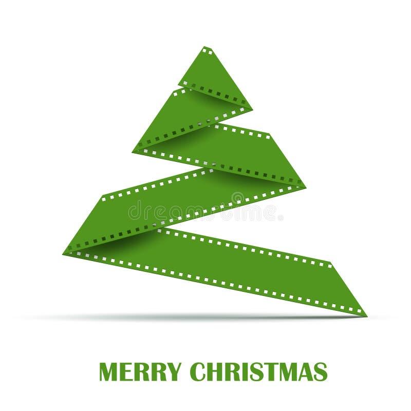 抽象传染媒介圣诞树背景 向量例证