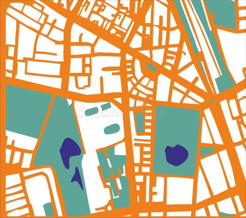 抽象传染媒介城市地图 库存例证