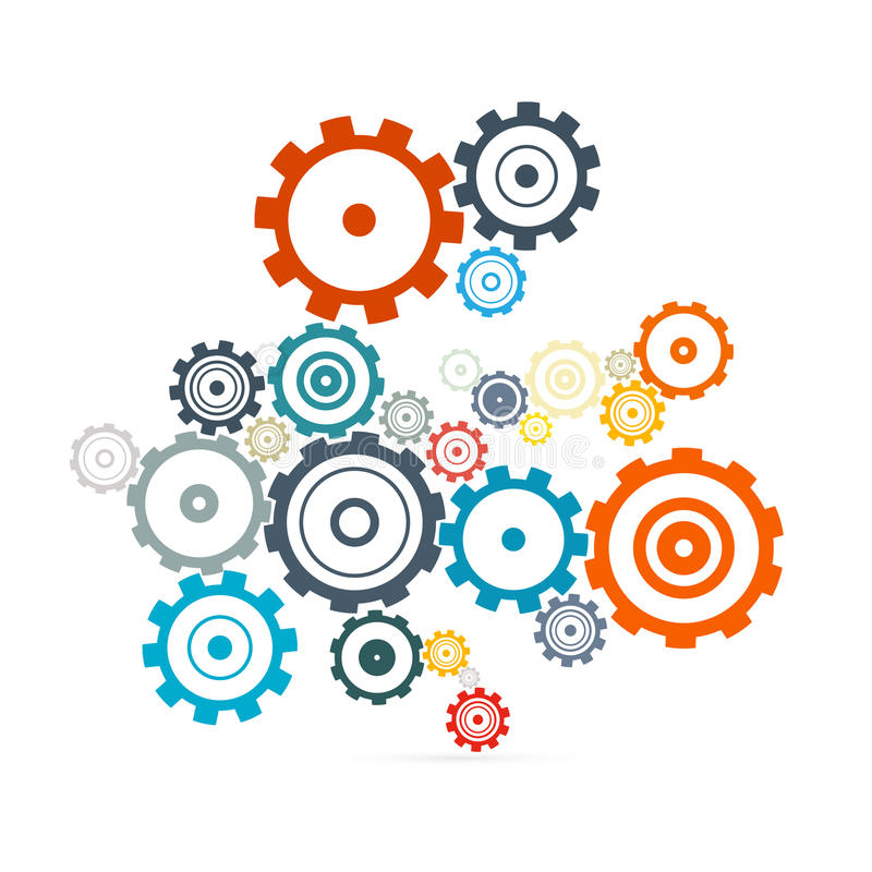 抽象传染媒介嵌齿轮-齿轮 向量例证