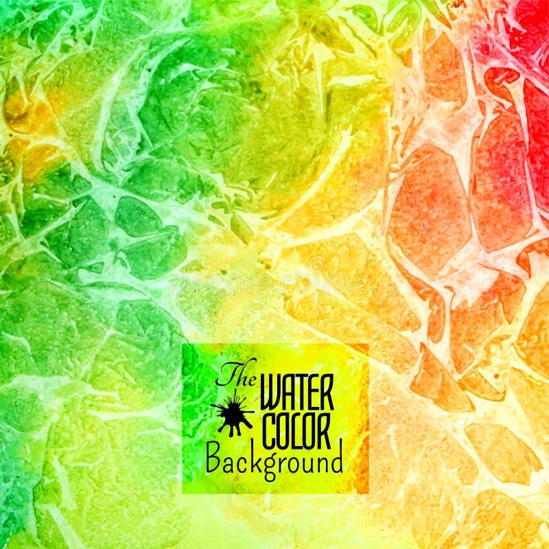 抽象传染媒介手拉的彩虹颜色 库存例证