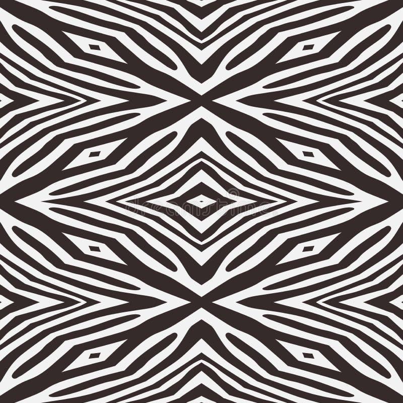 抽象传染媒介斑马无缝的背景 皇族释放例证