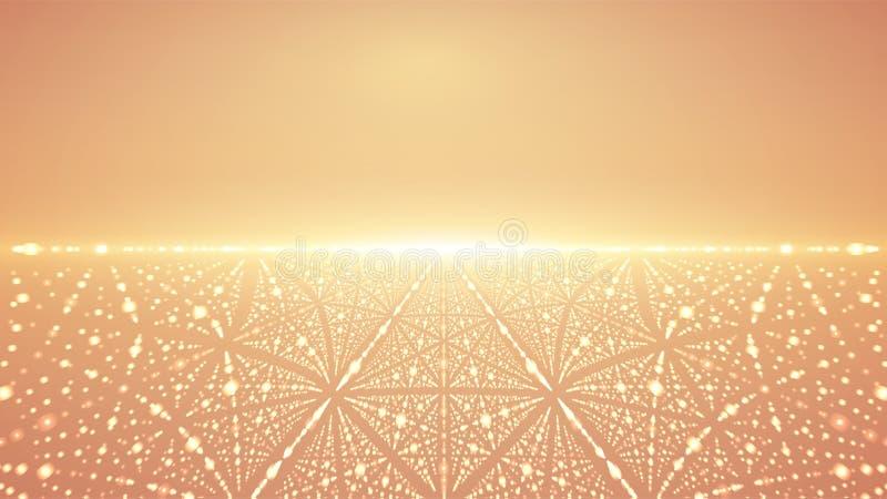 抽象传染媒介无限背景 发光担任主角与深度和透视幻觉  皇族释放例证