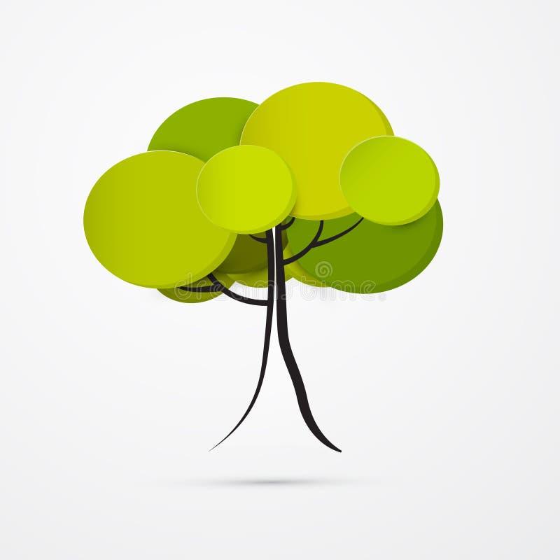 抽象传染媒介树 库存例证