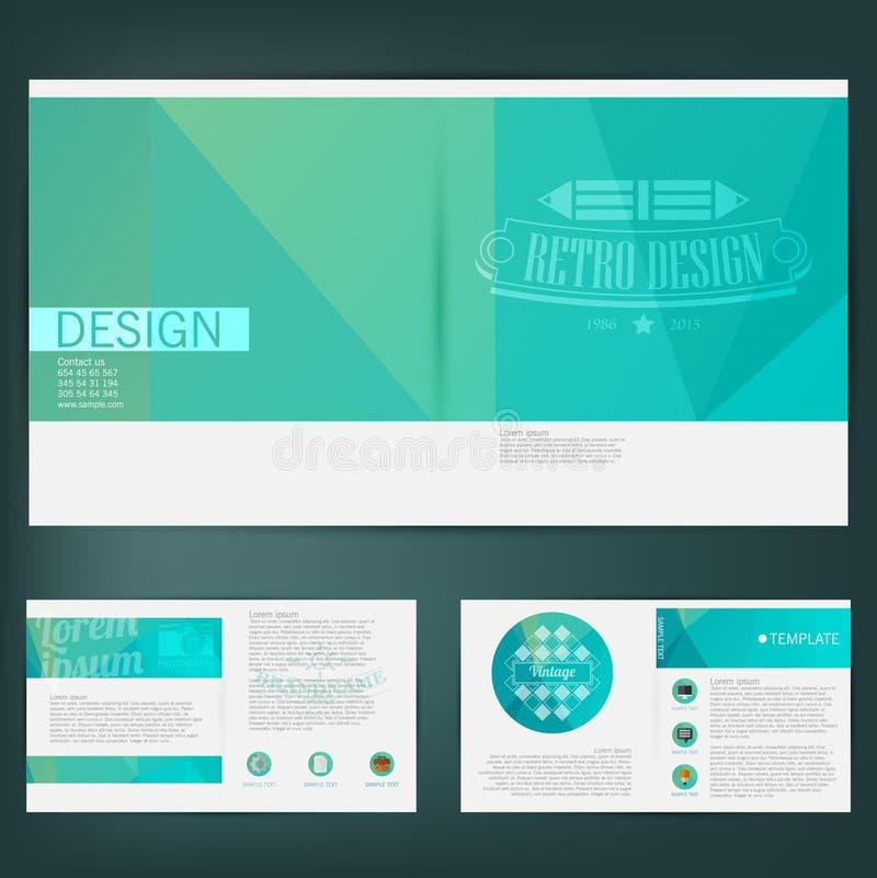 抽象传染媒介模板设计,小册子,网站,页,叶子 库存例证