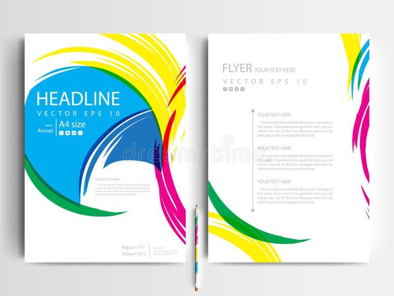 抽象传染媒介现代飞行物小册子设计模板 库存例证