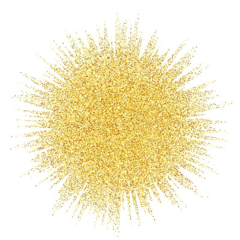 抽象传染媒介砂金闪烁星波浪 向量例证