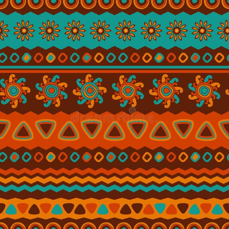抽象传染媒介种族无缝的样式 墙纸的, patt用途 向量例证