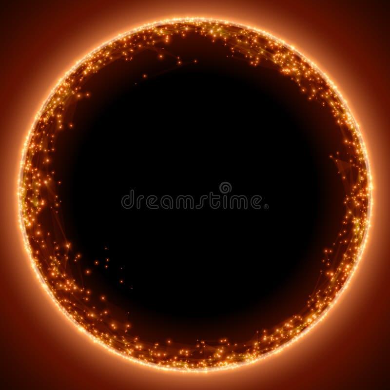 抽象传染媒介红色滤网背景 黑洞或稀有 未来派技术样式 皇族释放例证