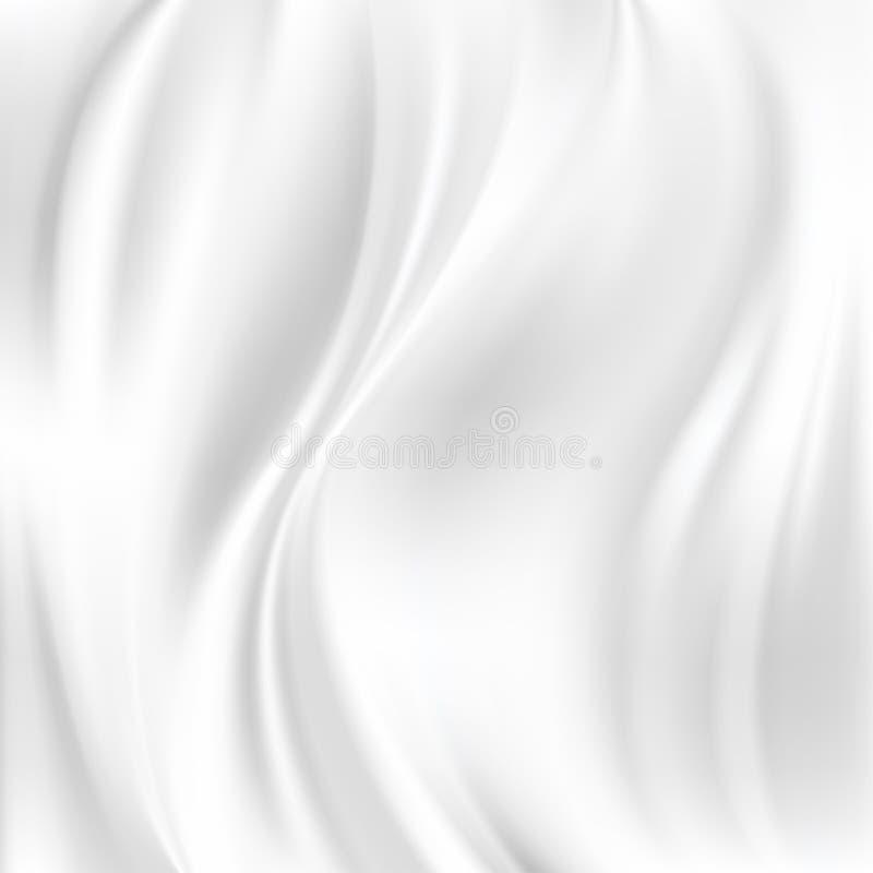 抽象传染媒介纹理,白色丝绸 皇族释放例证